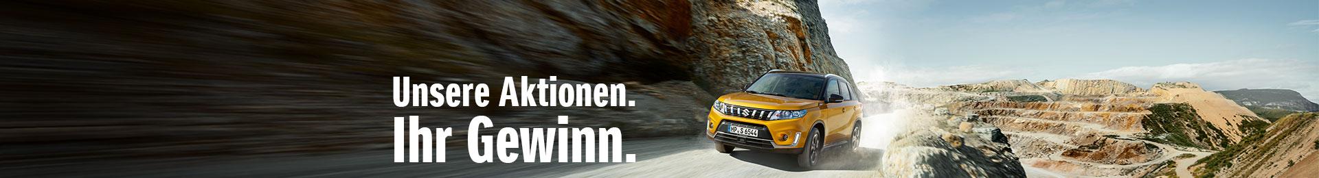 Unsere Suzuki Aktionen - Ihr Gewinn.