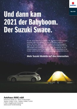 Sonderaktion der Suzuki Modellpalette in ihrem Autohaus AHAG