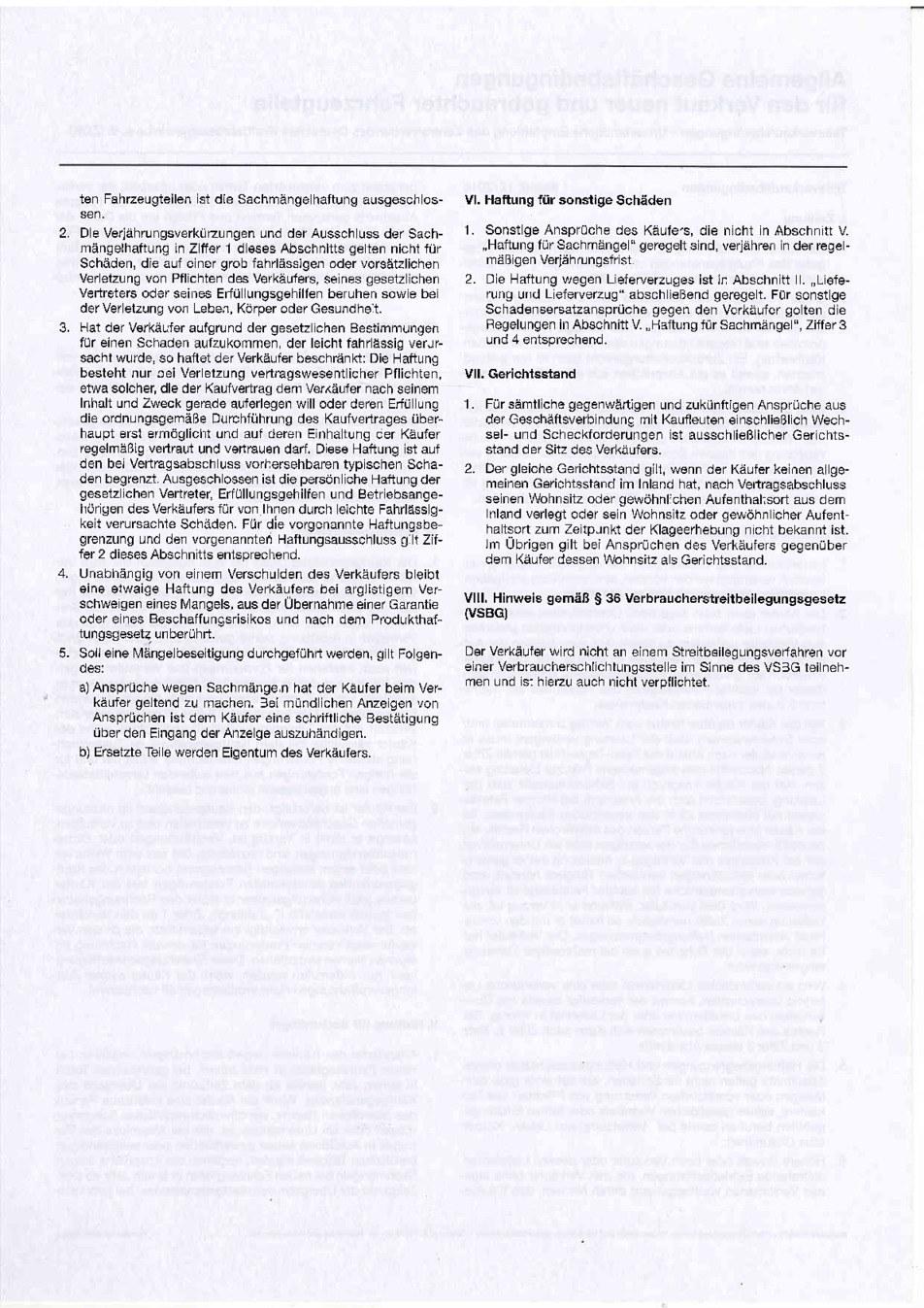 Teileverkaufsbedingungen Seite 2 von 2