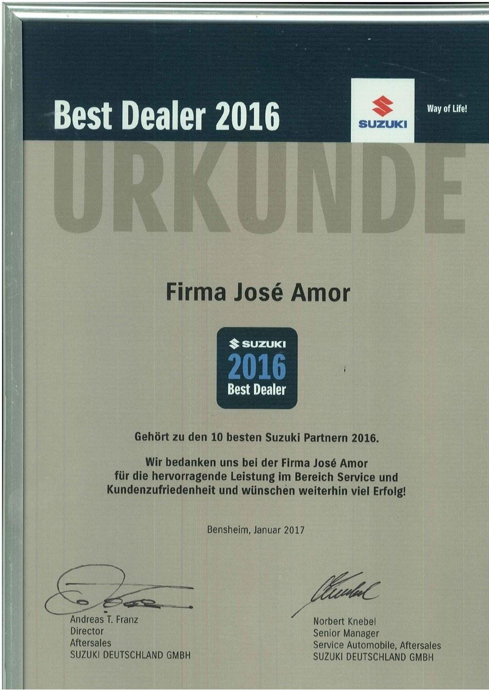 Auszeichnung 2016