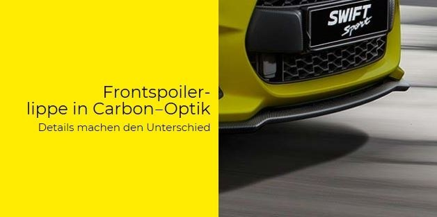 Frontspoiler in Carbon-Optik