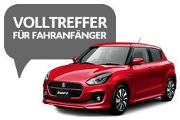 Für Fahranfänger zwischen 17 und 25 Jahren oder deren Führerschein nicht älter als 4 Jahre ist. Rabatt    gilt auf den Nettopreis der unverbindlichen Preisempfehlung der Suzuki Deutschland GmbH zuzüglich    Überführungs- und Zulassungskosten. Gültig bei allen teilnehmenden Suzuki Partnern.