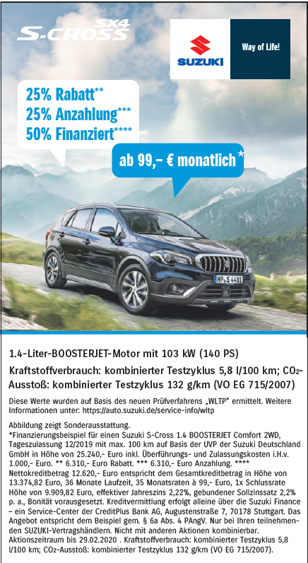 S-Cross Angebot