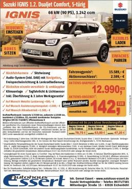 Aktion Sonderpreis Suzuki Ignis