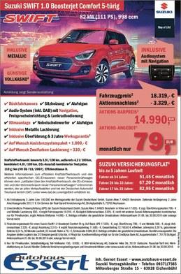 Aktion Sonderpreis Suzuki Swift