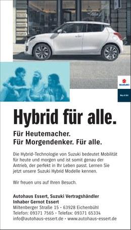 Autohaus Essert Sonderaktion 2020 Suzuki Swift Hybrid IMAGE