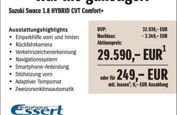 Mehrpreisaktion Suzuki Swace Aautohaus Essert