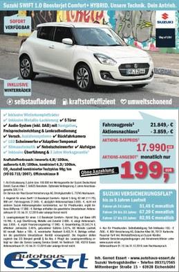 Suzuki Swift Hybrid Sonderpreis Autohaus Essert
