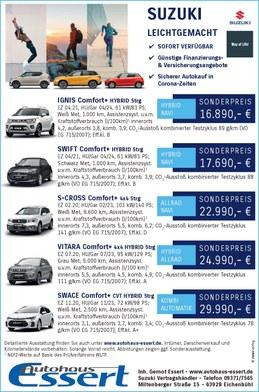 Vorführwagen Suzuki Autohaus Essert