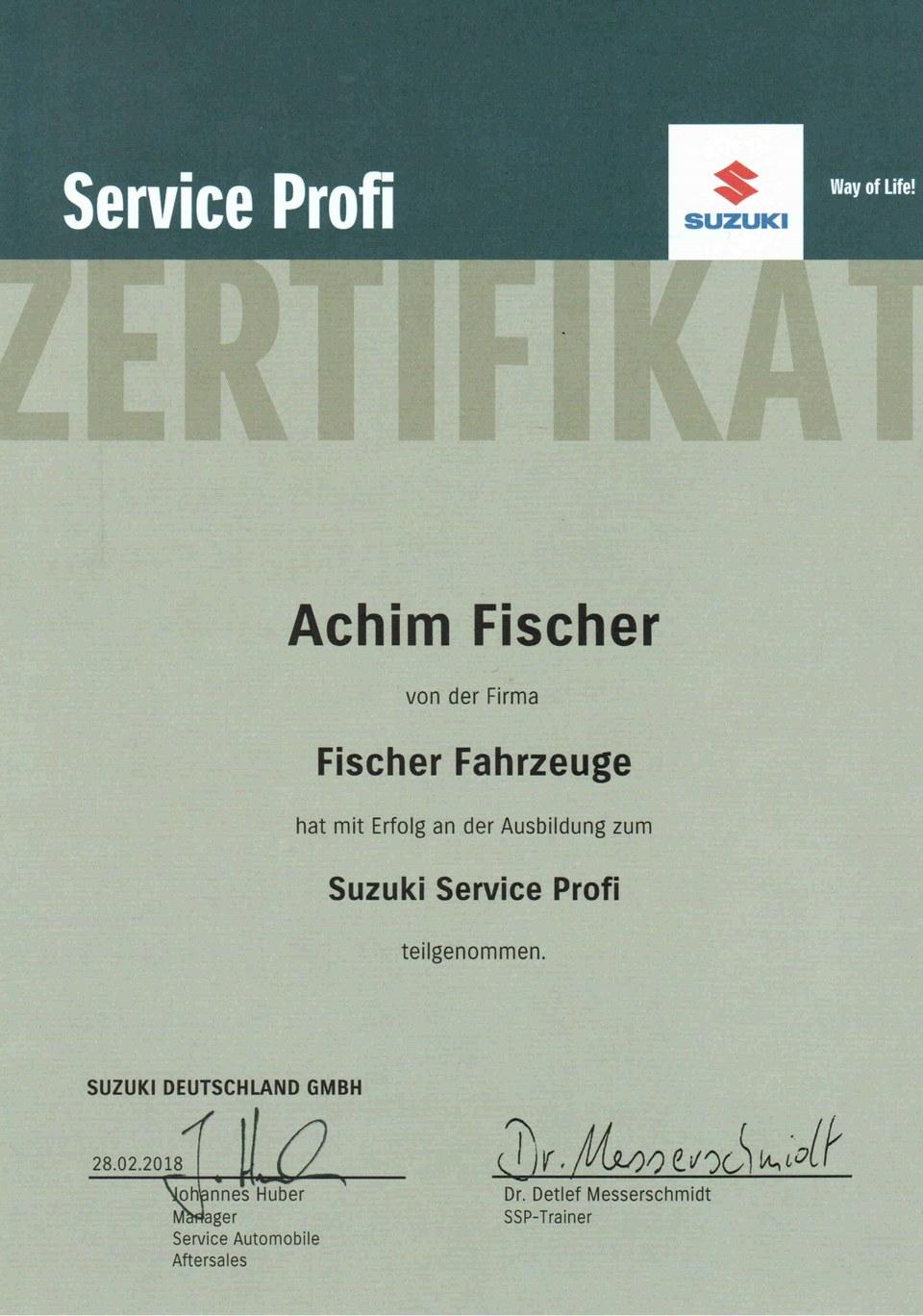 Suzuki Service/Räderwechsel