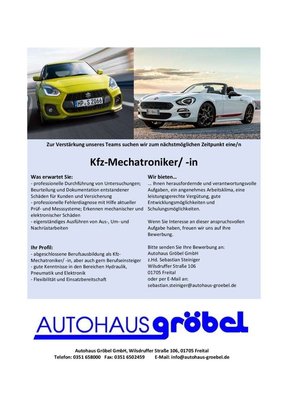 Kfz Mechatroniker / -in