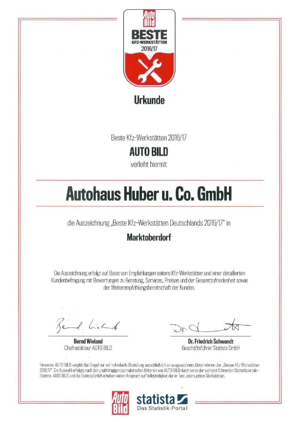 Service - Ludwig Huber & Co.