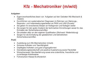 Autohaus Pietsch in Walldorf/Baden such Kfz-Mechatroniker (w/m/d)