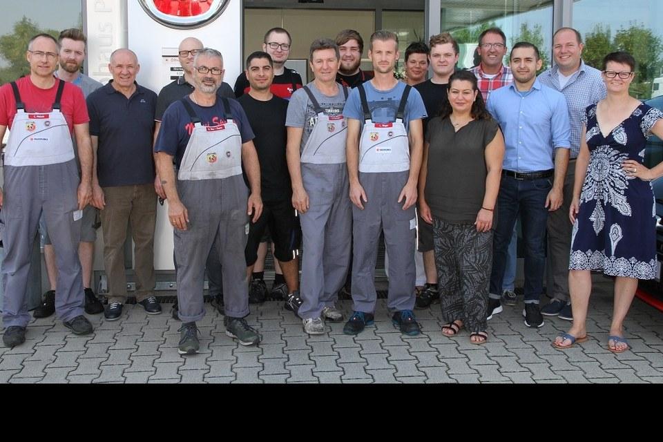 Das Walldorfer Autohaus Pietsch Team - Der ganze Stolz unseres Betriebes!