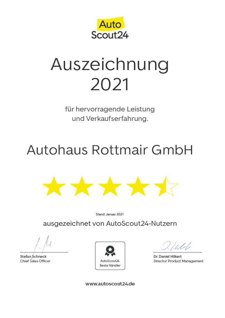 Auszeichnung 2021