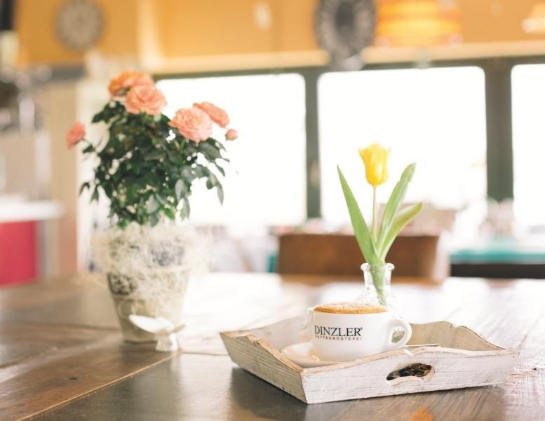 Kundencafé im 1. Stock