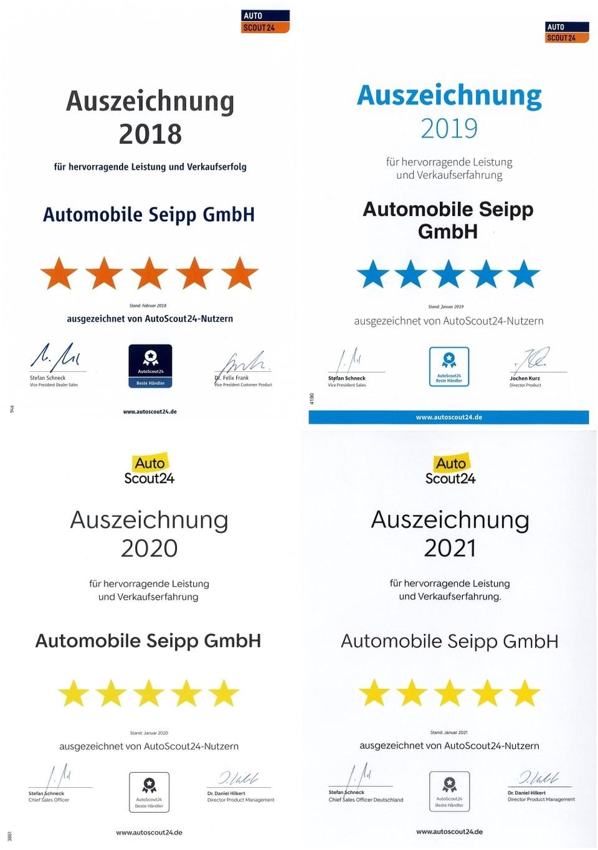 Auszeichnung des Autohauses Seipp von den Autoscout24-Nutzern