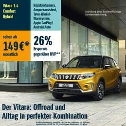 Sichere dir jetzt den Suzuki Viatara 1.4 Comfort Hybrid schon ab 149€* im Monat!