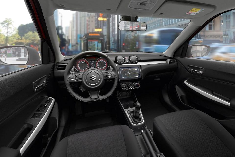 Der neue Suzuki Swift Innenraum