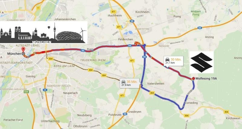 Wir in der Nähe von München