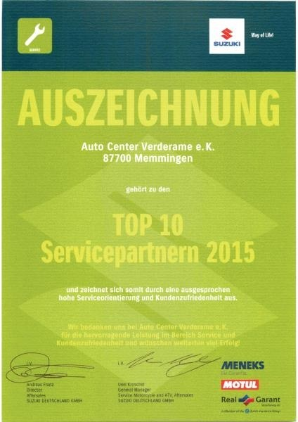 Top Servicepartner 2015