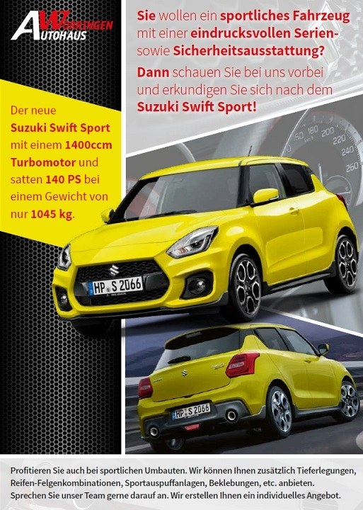 Swift Sport Angebot